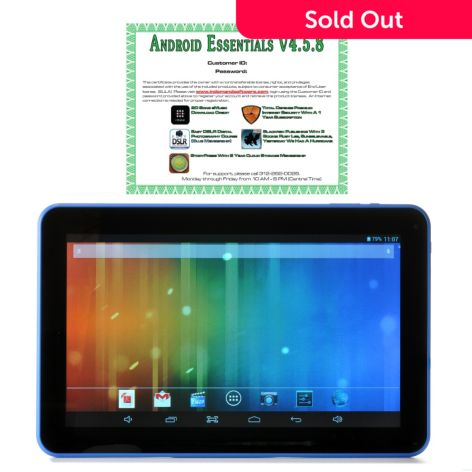 -876 - TRAVELTEK Android™ 4.2 10.1'' LCD Dual-Core 4GB Wi-Fi Tablet
