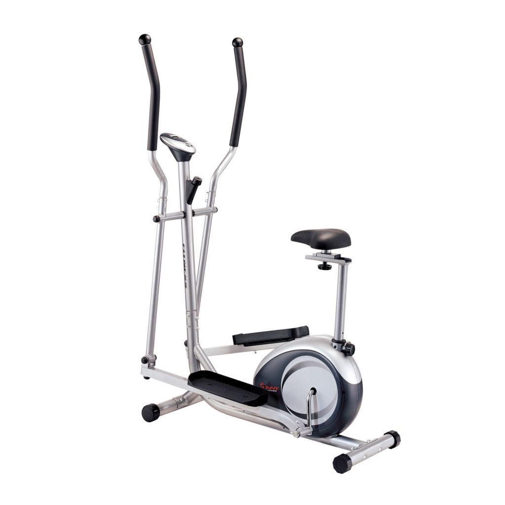 000-356 - Sunny Health and Fitness Two-in-One Elliptical and Upright Bike