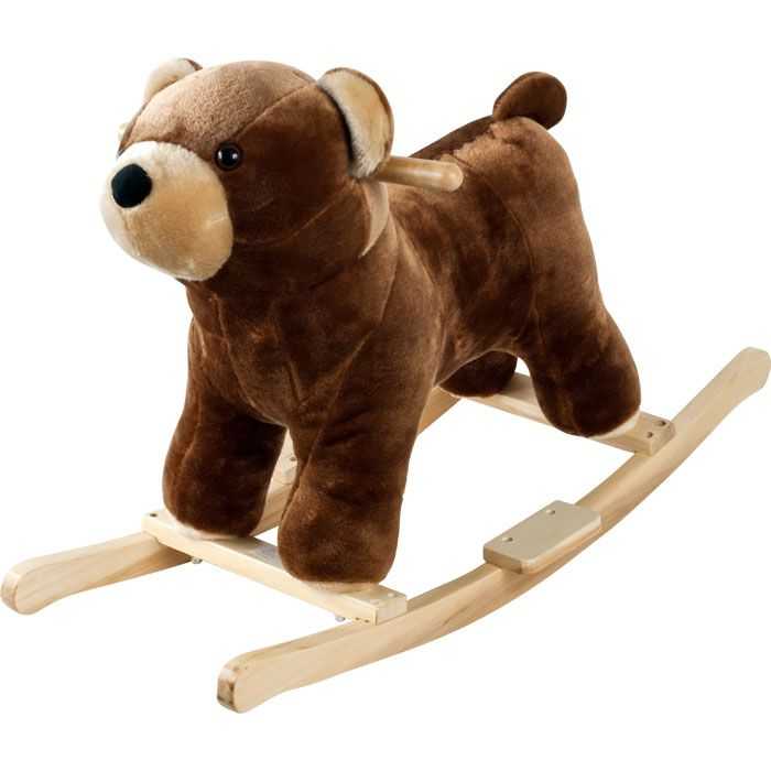 000-495 - Happy Trails™ Plush Rocking Barry Bear w/ Sounds