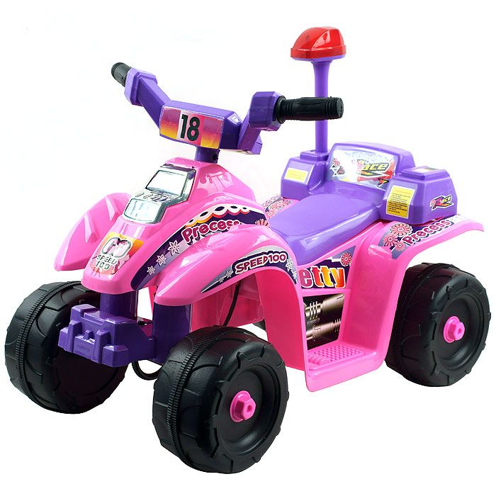 000-506 - Lil' Rider™ Precess 4 Wheel Mini Pink & Purple ATV