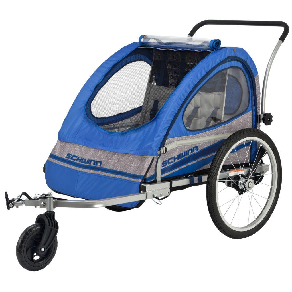 000-548 - Schwinn Trailblazer Double Seat Bike Trailer