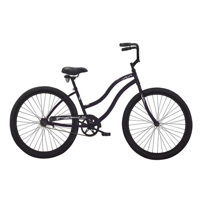 000-594 - Micargi® Black Touch Women's Beach Cruiser Bike