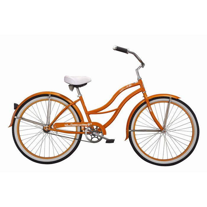 000-599 - Micargi® Orange Tahiti Women's Beach Cruiser Bike