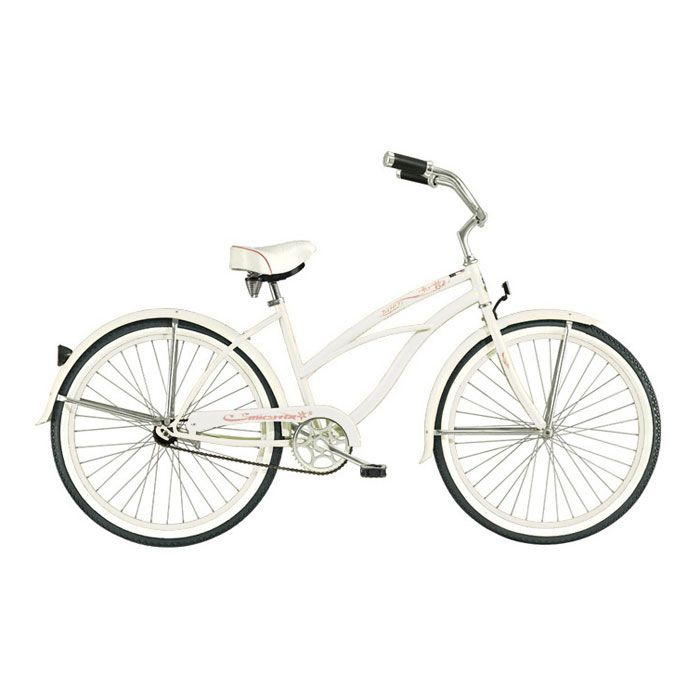 000-601 - Micargi® White Tahiti Women's Beach Cruiser Bike