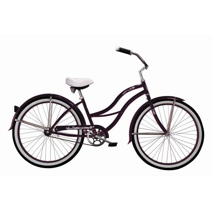000-602 - Micargi® Black Tahiti Women's Beach Cruiser Bike