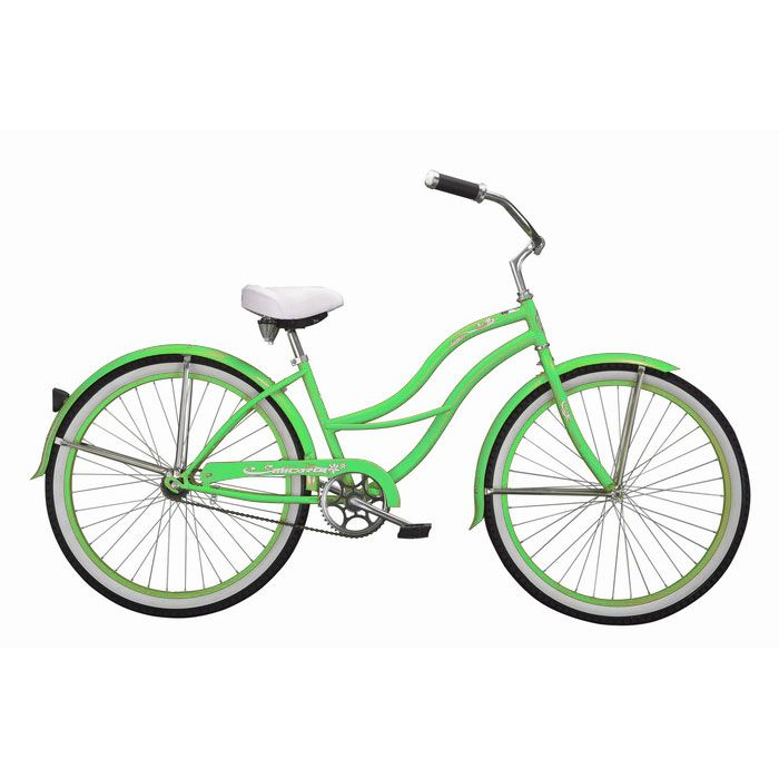 000-603 - Micargi® Mint Green Tahiti Women's Beach Cruiser Bike