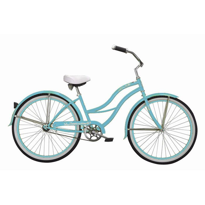 000-604 - Micargi® Baby Blue Tahiti Women's Beach Cruiser Bike