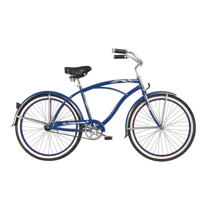 000-606 - Micargi® Dark Blue Tahiti Men's Beach Cruiser Bike