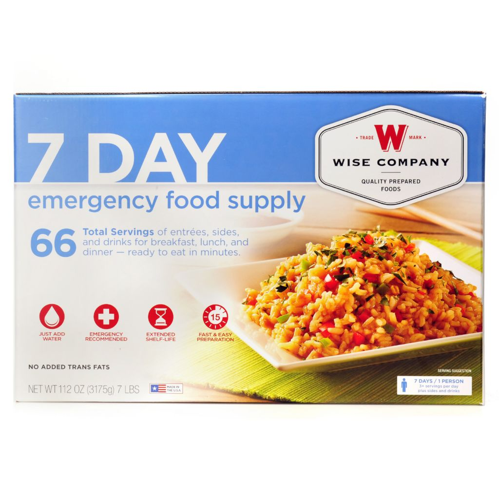 000-874 - Wise Company Seven-Day Emergency Food Supply