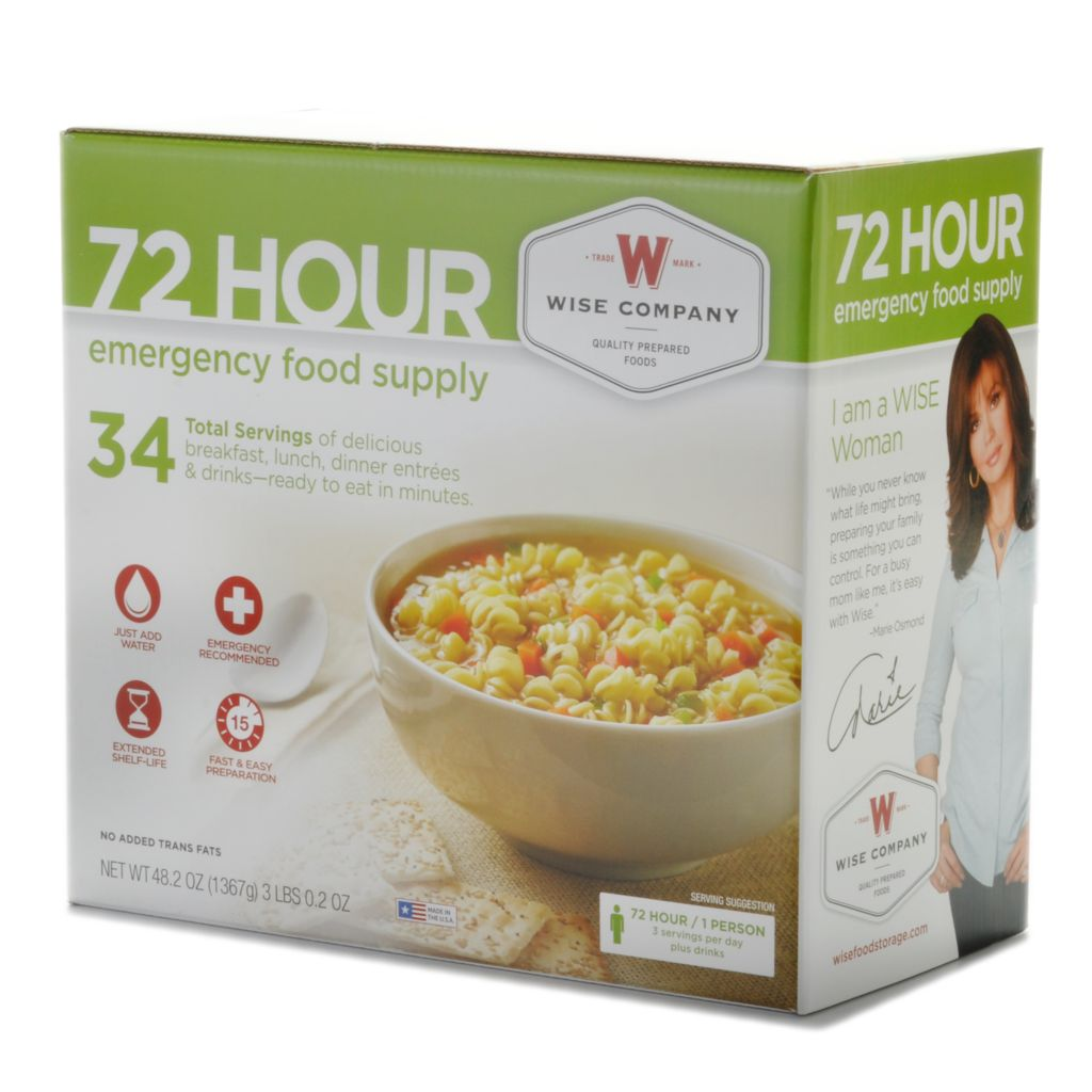000-875 - Wise Company 72-Hour Emergency Food Supply