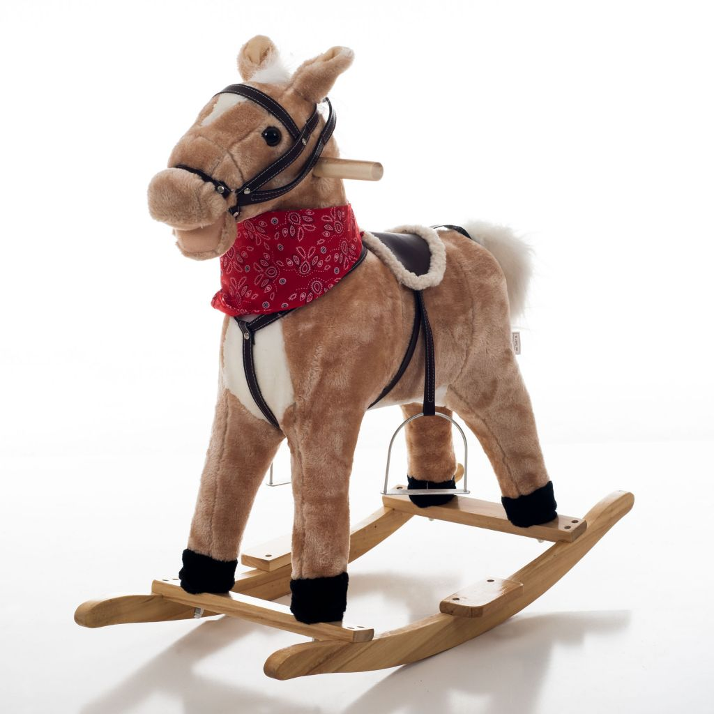 000-876 - Happy Trails™ Dusty the Plush Rocking Horse