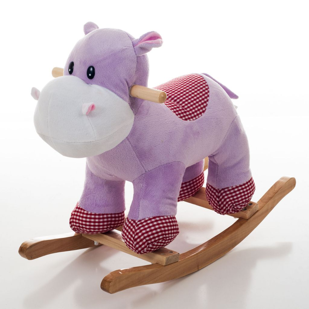 000-877 - Happy Trails™ Henrietta the Plush Rocking Hippo