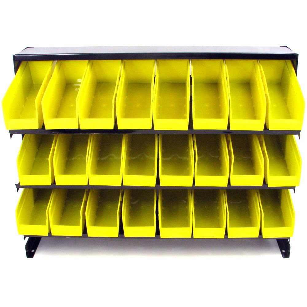 000-911 - Stalwart 24 Bin Parts Storage Rack Trays