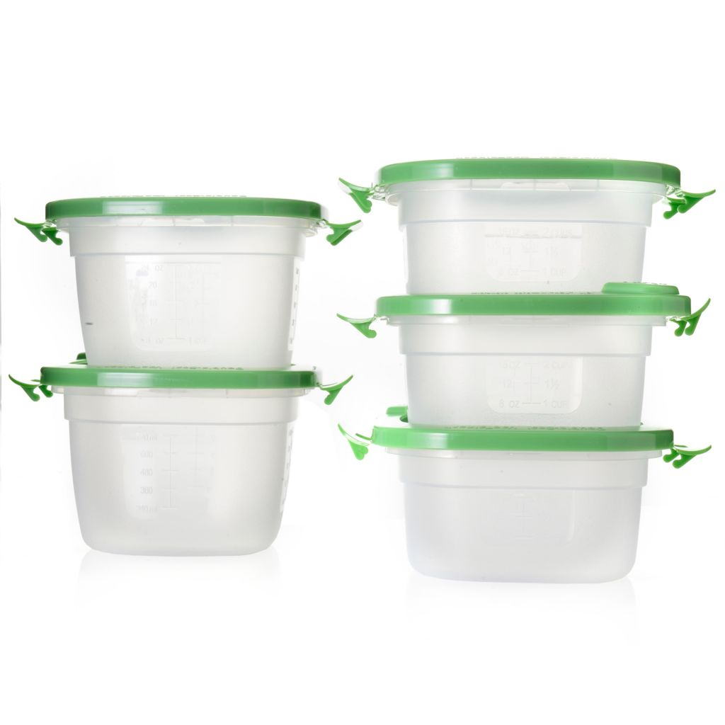 000-927 - Double-Seal VacTainers™ BPA-Free 10-Piece Food Storage Container Set