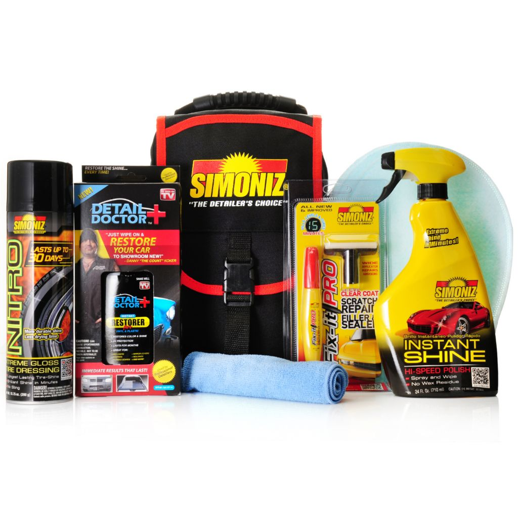 000-950 - Simoniz® Nine-Piece Multi Purpose Automotive Care Set w/ Storage Case
