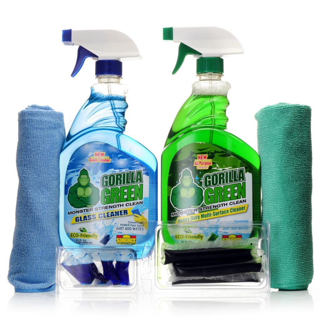 000-951 - Simoniz® Gorilla Green 14-Piece Glass & Multi Surface Home Cleaning System