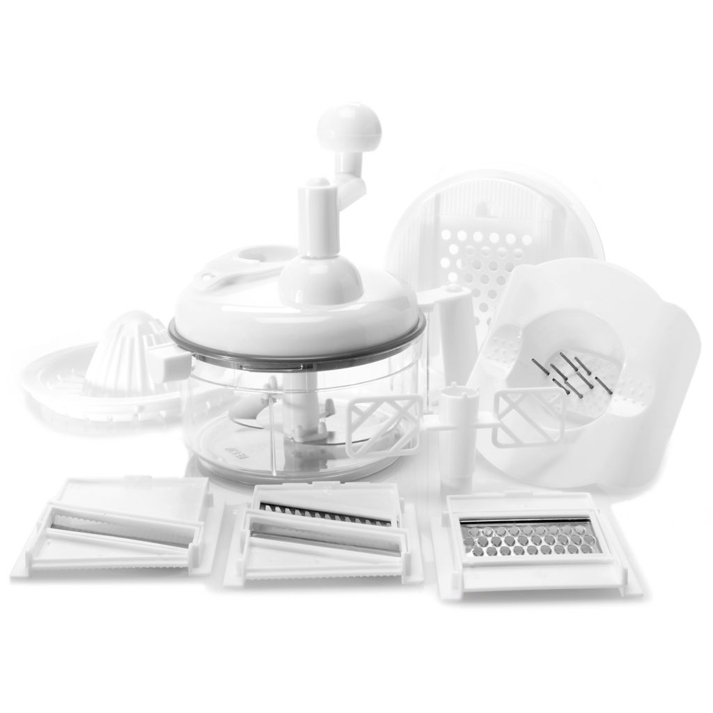 000-972 - ChefDini 17-Piece Cordless Food Processor Set w/ Recipe Book