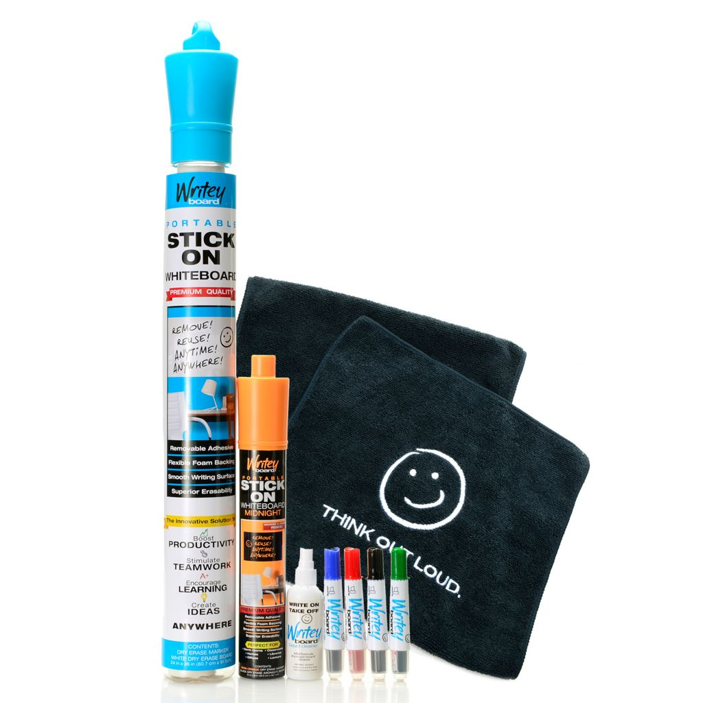 000-991 - WriteyBoard® Removable Adhesive Portable Stick-on Dry Erase Board 10-Piece Kit