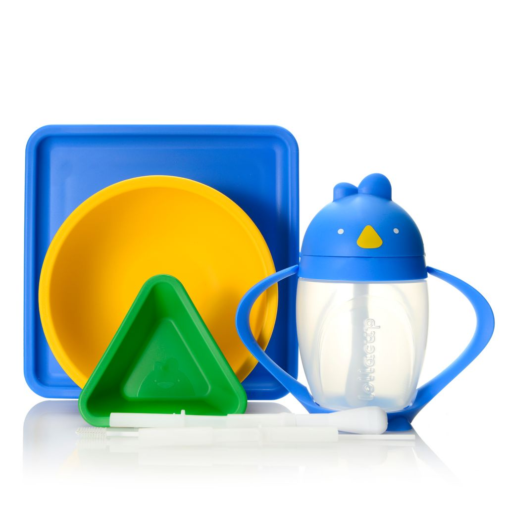 000-996 - Lollaland® Four-Piece Lollacup & Mealtime Set w/ Replacement Straw Pack