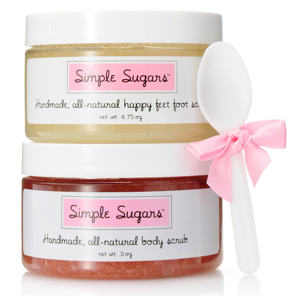 001-000 - Simple Sugars™ All-Natural Body Scrub & Happy Feet Foot Scrub Spa Duo