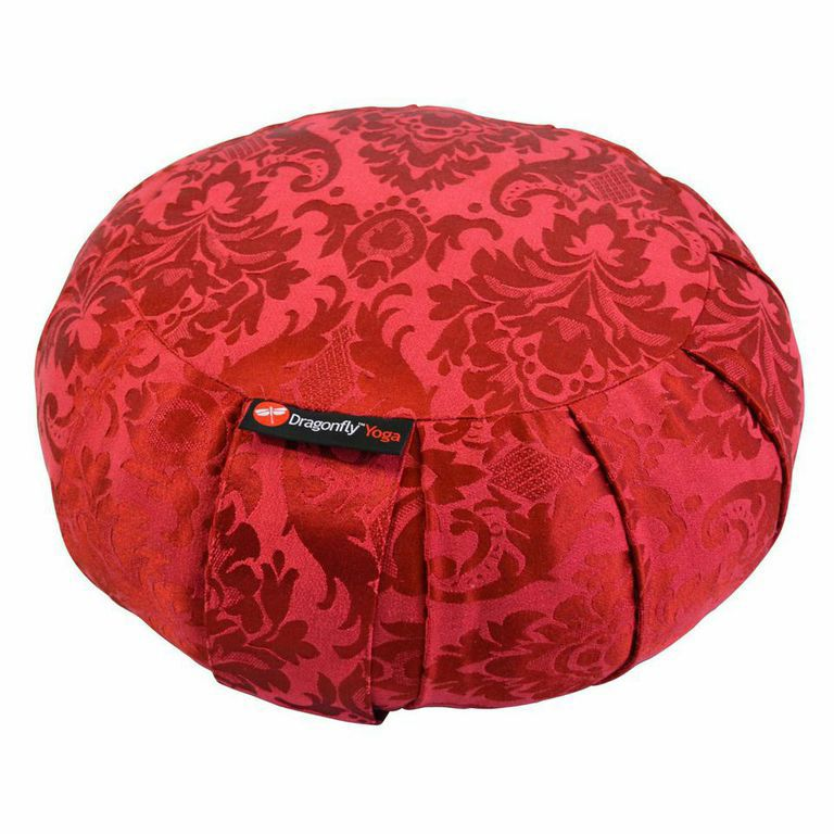 001-109 - Dragonfly Yoga Round Silk Zafu Meditation Cushion
