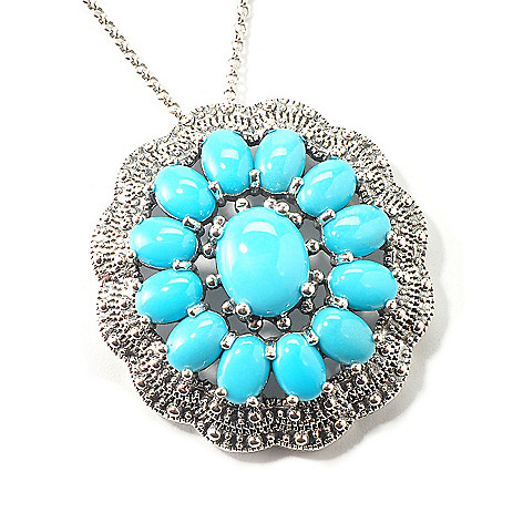 103-998 - Gem Insider™ Sterling Silver Stabilized Sleeping Beauty Turquoise Pendant