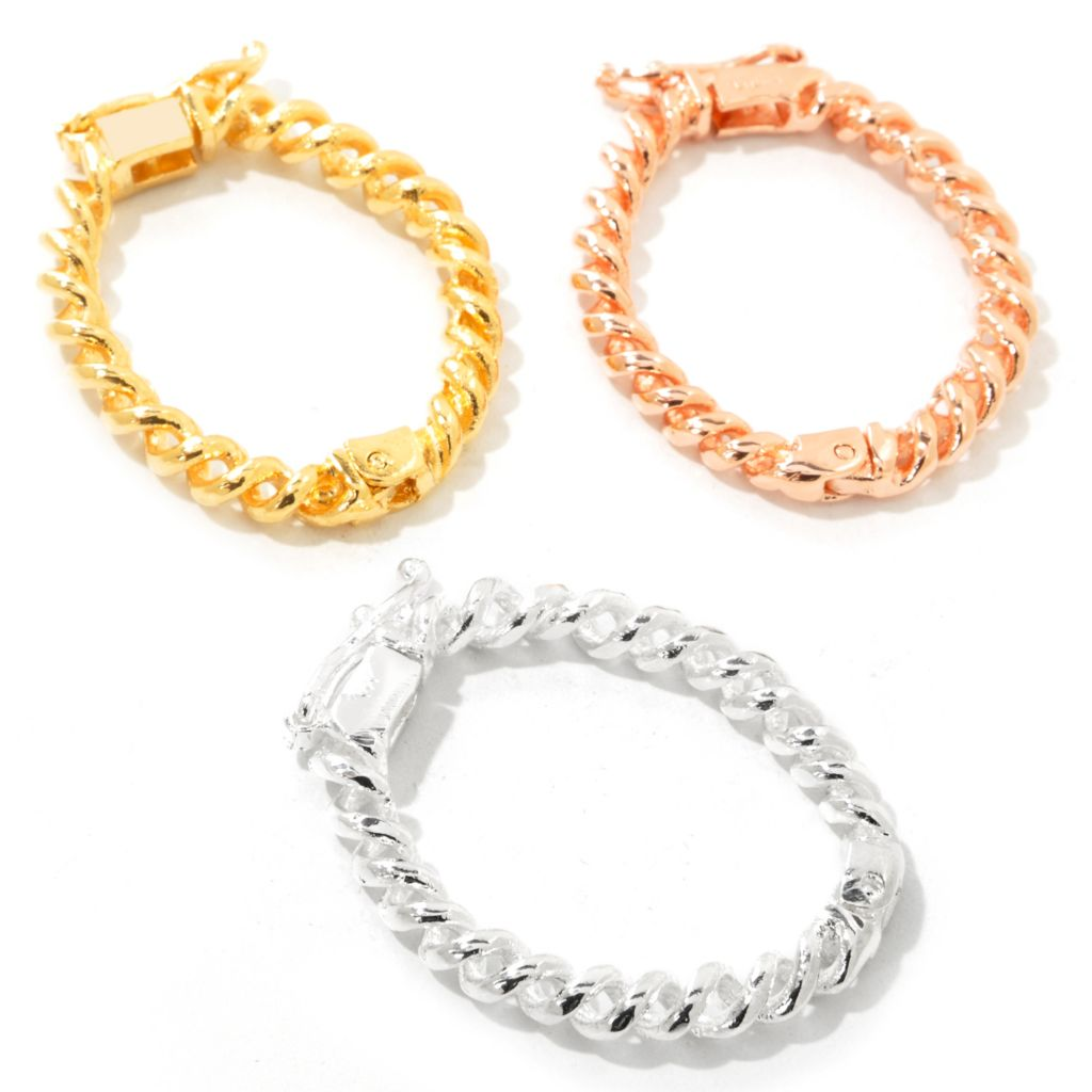 111-003 - Set of Three Plated White, Yellow & Rose Shortner Clips