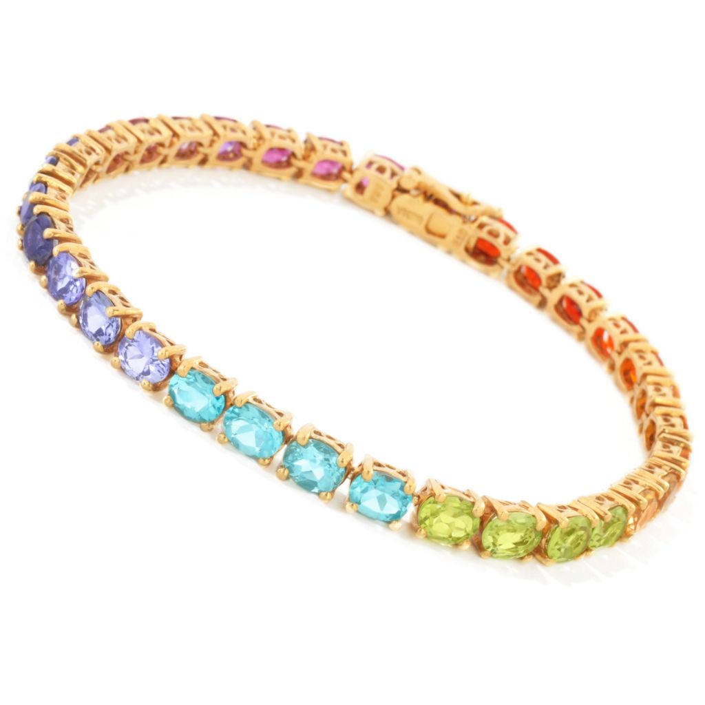 112-856 - NYC II Exotic Rainbow Multi Gemstone Tennis Bracelet
