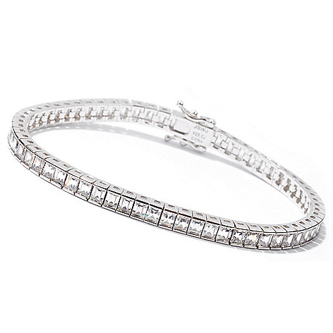 113-257 - Brilliante&reg' Platinum Embraced™ Baguette Cut Simulated Diamond Tennis Bracelet