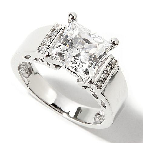 113-410 - Brilliante® 2.52 DEW Princess Cut Simulated Diamond Ring