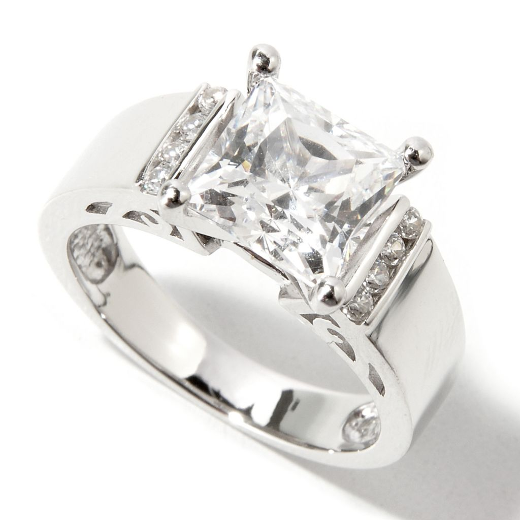 113-410 - Brilliante® 2.52 DEW Princess Cut Simulated Diamond Ring