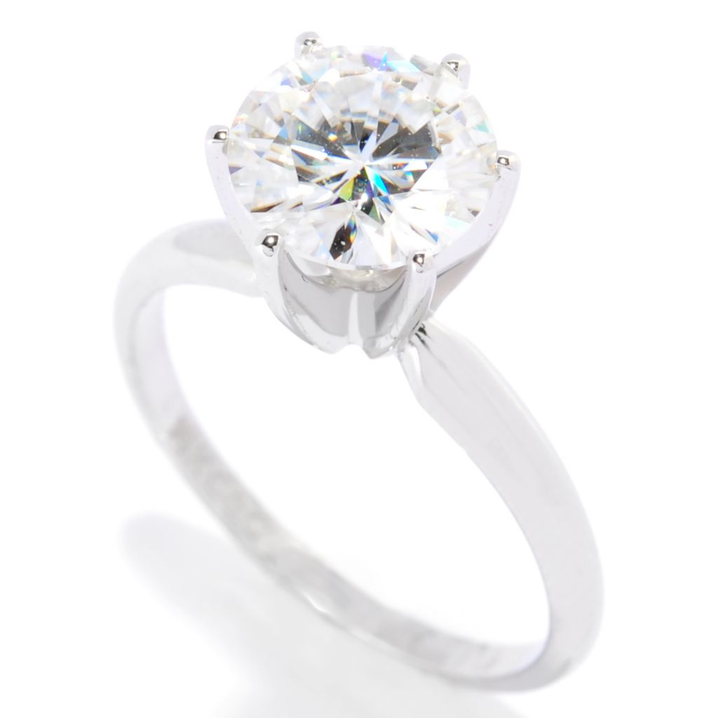 113-451 - Forever Brilliant® Moissanite 14K Gold 1.90 DEW Six-Prong Solitaire Ring
