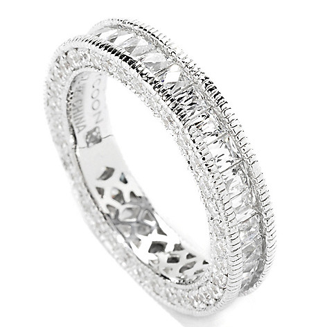 114-158 - TYCOON Platinum Embraced™ 2.93 DEW Simulated Diamond Eternity Band