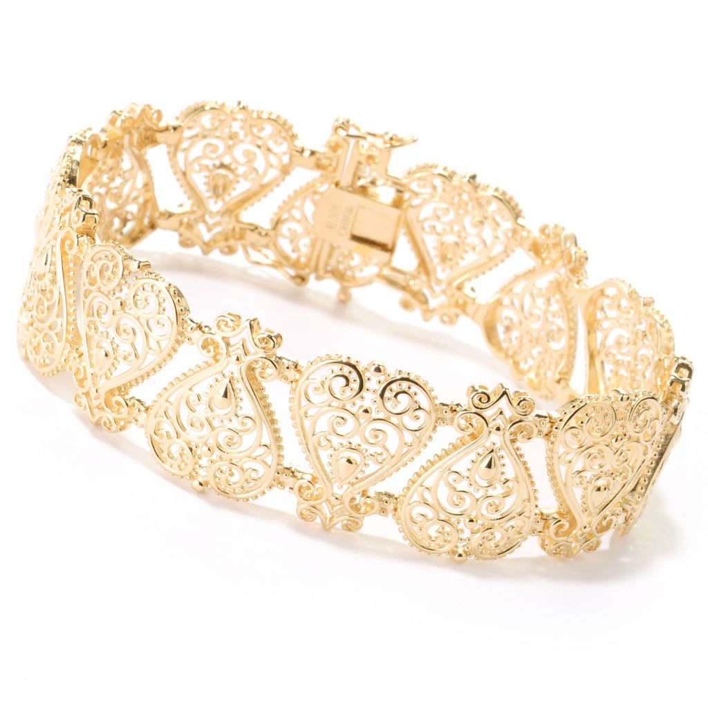 114-903 - Jaipur Bazaar Gold Embraced™ Ornate Link Bracelet