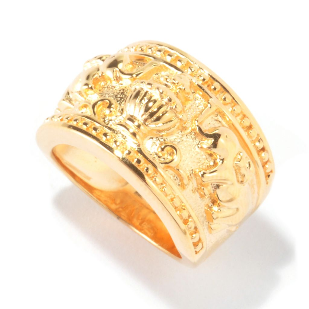 114-906 - Jaipur Bazaar Gold Embraced™ Elephant Band Ring