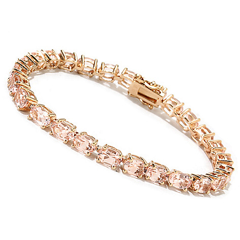 115-087 - NYC II® Oval Morganite Tennis Bracelet