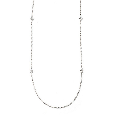 115-109 - Brilliante® Platinum Embraced™ 18'' 1.50 DEW Simulated Diamond Station Necklace