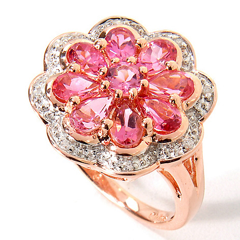 115-413 - NYC II 1.54ctw Pink Tourmaline & Diamond Accent Ring