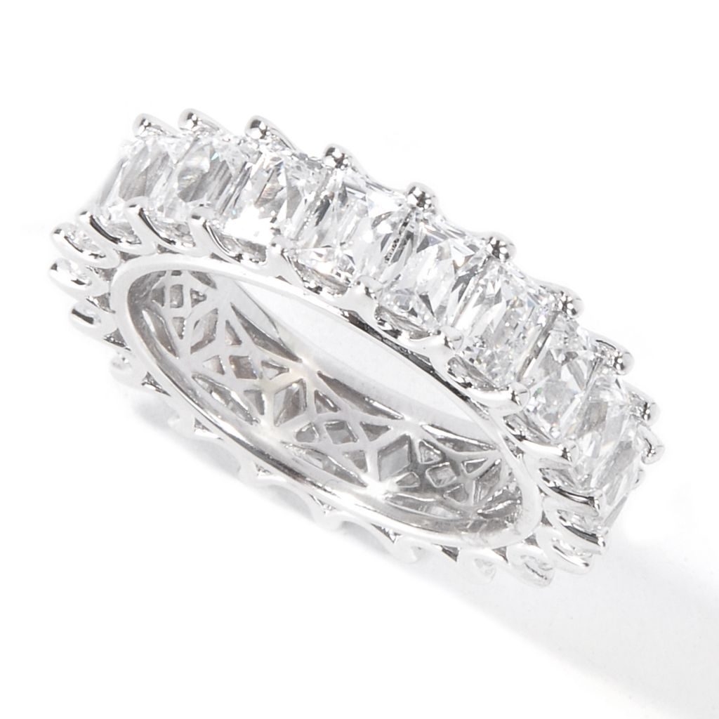115-438 - TYCOON Platinum Embraced™ 4.42 DEW Simulated Diamond Eternity Band Ring
