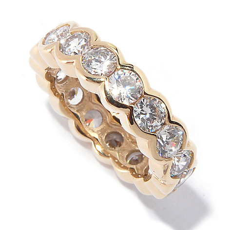 115-681 - Sonia Bitton 2.89 DEW Bezel Set Simulated Diamond Eternity Band Ring
