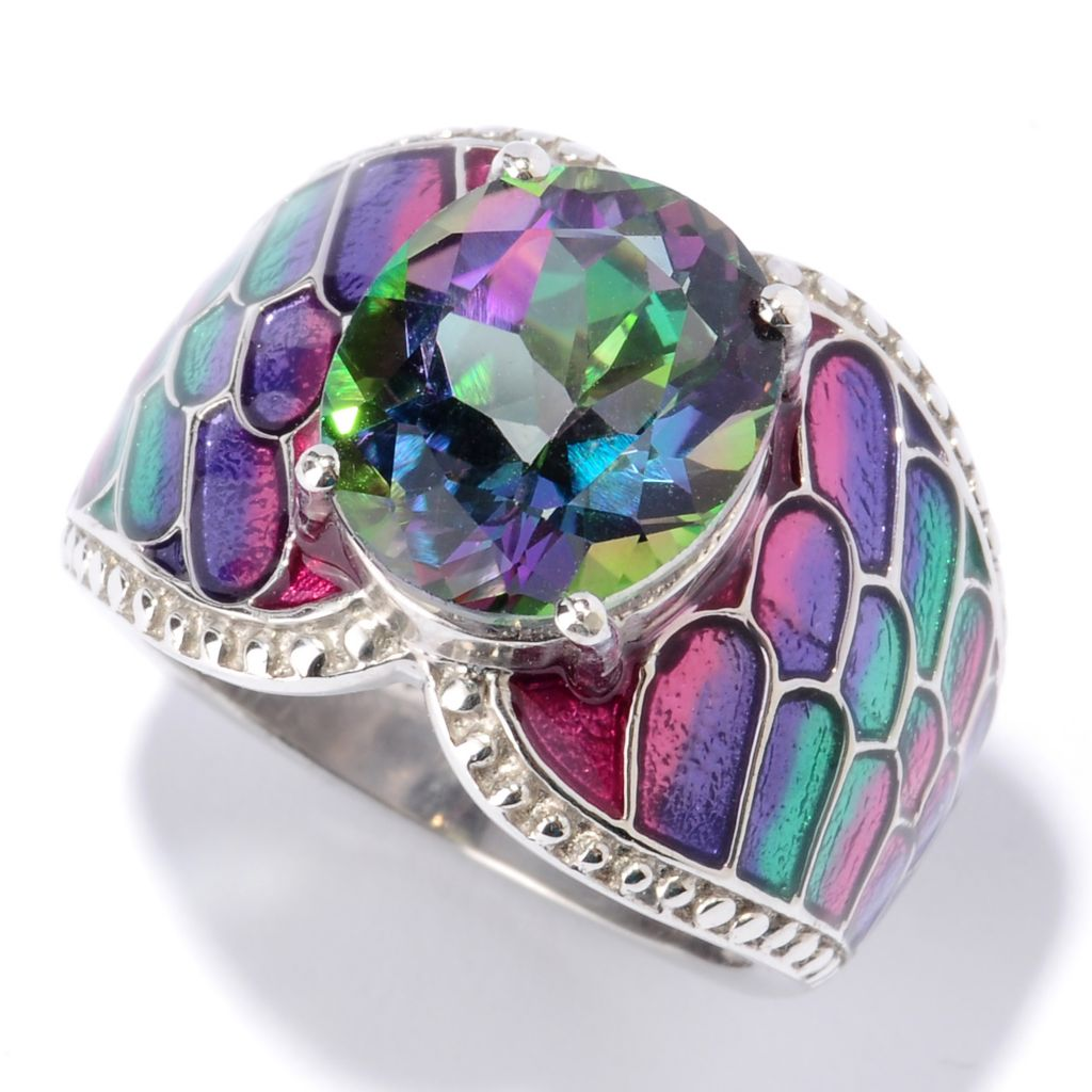 115-907 - NYC II 3.50ctw Exotic Topaz & Gradated Enamel Ring