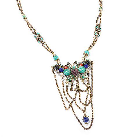 115-935 - Sweet Romance™ 17'' 1920s Tang Dynasty Inspired Butterfly Necklace