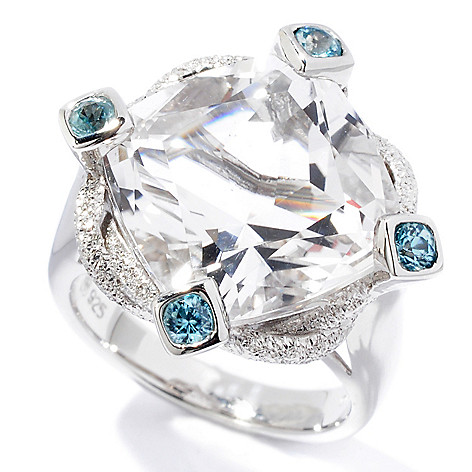 115-981 - NYC II™ Cushion Cut Quartz & Zircon Ring