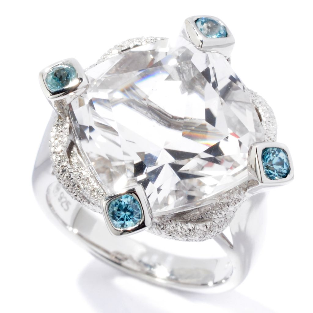 115-981 - NYC II Cushion Cut Quartz & Zircon Ring