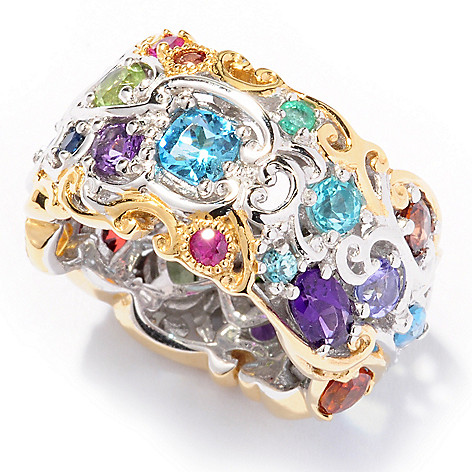 116-140 - Gems en Vogue II Multi-Gemstone ''Carnaval'' Eternity Band Ring