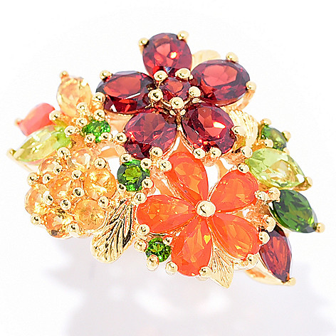 117-170 - NYC II 4.22ctw Multi-Gemstone Flower Ring