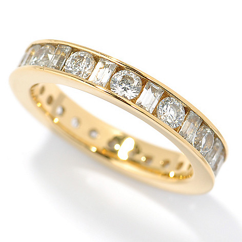 117-340 - Brilliante® 1.92 DEW Baguette Cut Simulated Diamond Eternity Band Ring