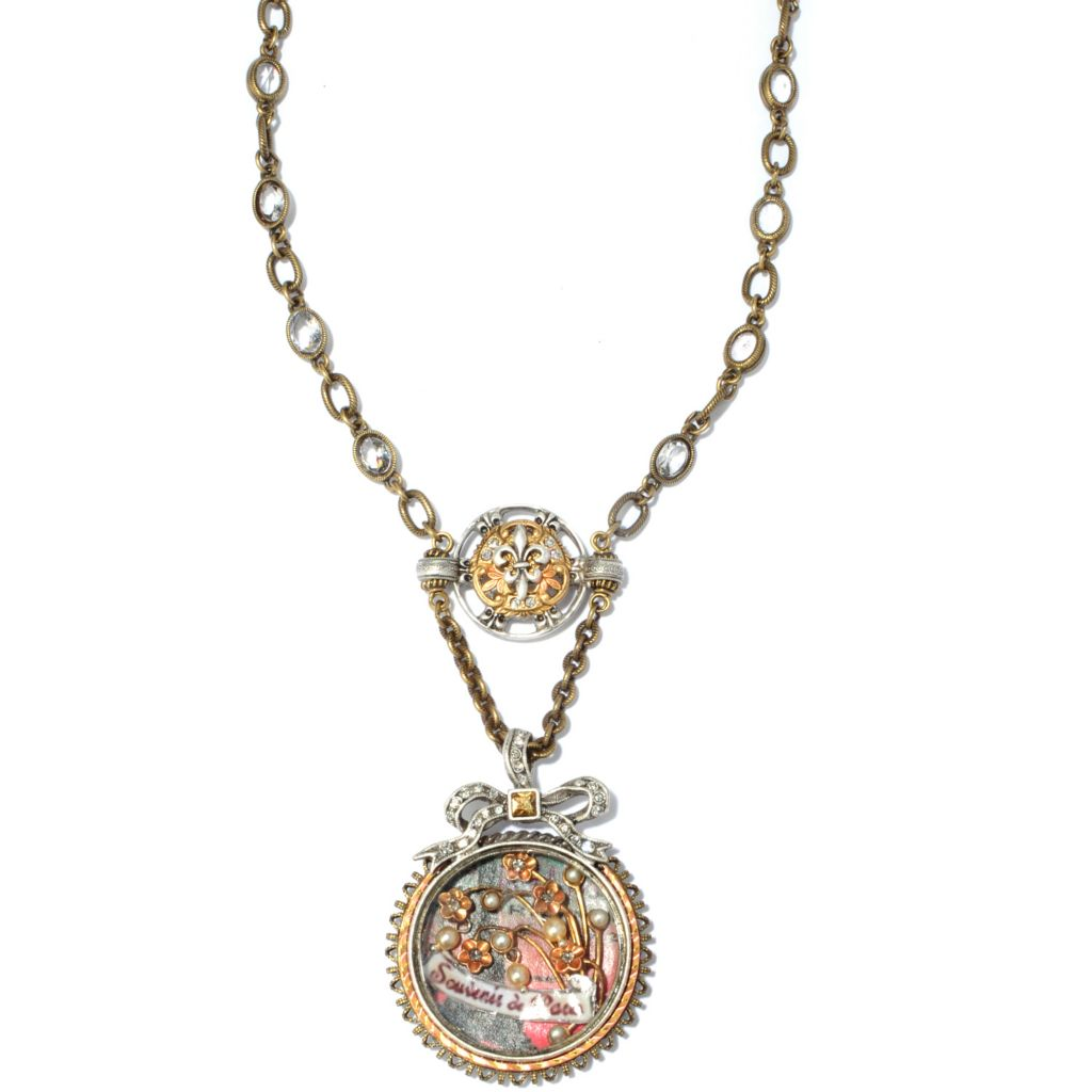 "117-569 - Sweet Romance™ 21"" Victorian Inspired Paris Shadow Box Necklace"