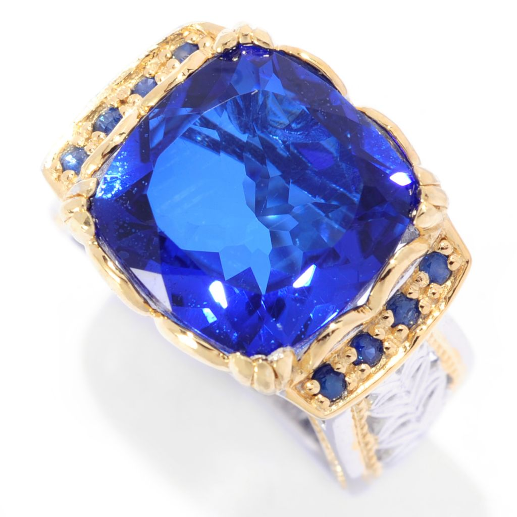 "118-002 - Gems en Vogue II ""Ekaterina"" Brazilian-Cut Quartz Doublet Ring"