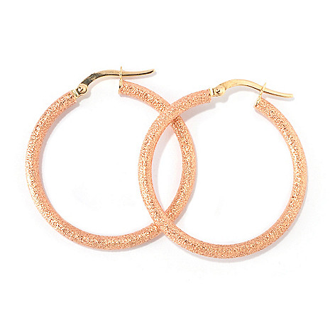 118-105 - 14K Gold 1.25'' Diamond Cut Hoop Earrings